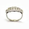 Bague jarretière cinq diamants