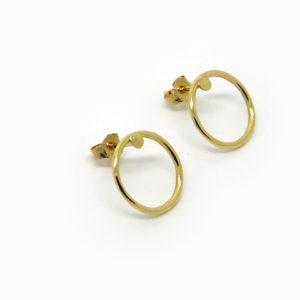 puces d'oreilles cercle d'or