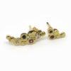 boucles d'oreilles galets pierres