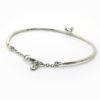 bracelet martelé avec aigue marine