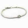 bracelet martelé pierre fine