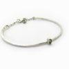 bracelet martelé tourmaline verte