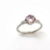 Solitaire en amétrine et diamants