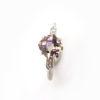 Solitaire quartz et diamants