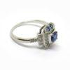 Bague fine art déco octogonale saphir diamants
