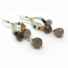 Boucles d'oreilles de createur en argent et pierres fines